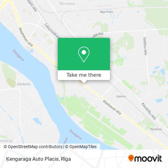 Ķengaraga Auto Placis map