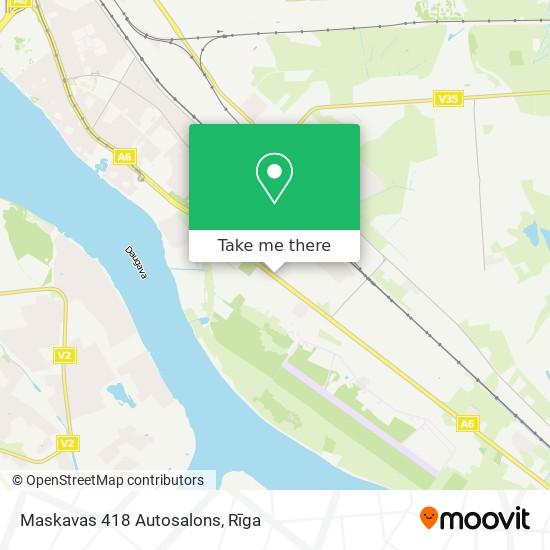 Maskavas 418 Autosalons map