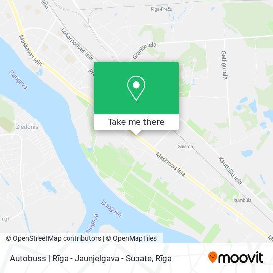 Autobuss | Rīga - Jaunjelgava - Subate map