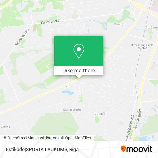 Estikāde SPORTA LAUKUMS map