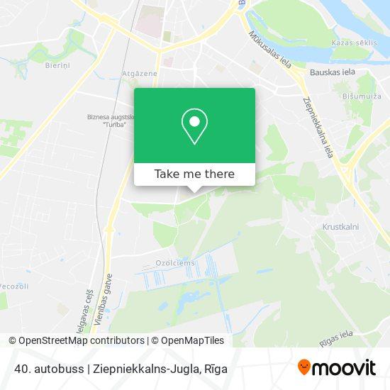 40. autobuss   Ziepniekkalns-Jugla map