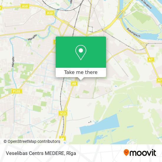 Veselibas Centrs MEDERE map