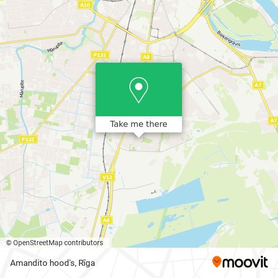 Amandito hood's map