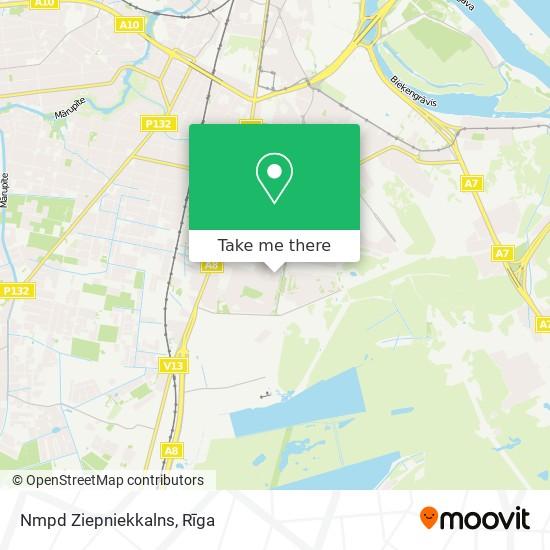 Nmpd Ziepniekkalns map