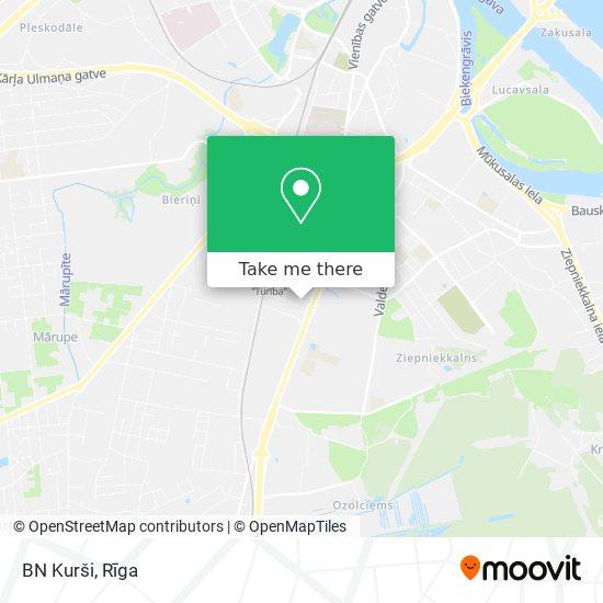 BN Kurši map