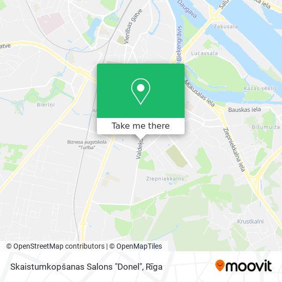 """Skaistumkopšanas Salons """"Donel"""" map"""