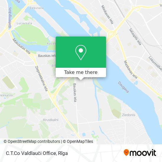 C.T.Co Valdlauči Office map