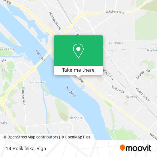 14 Poliklīnika map