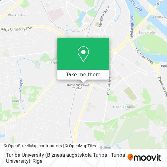 Turiba University (Biznesa augstskola Turība   Turiba University) map