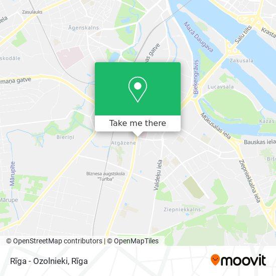 Rīga - Ozolnieki map