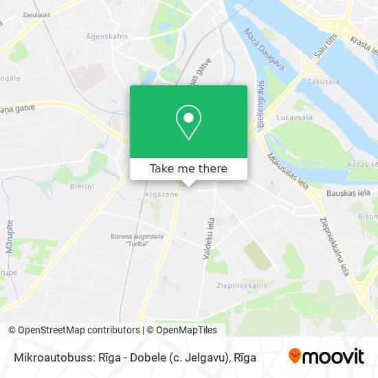 Mikroautobuss: Rīga - Dobele (c. Jelgavu) map