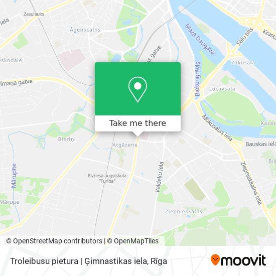 Troleibusu pietura | Ģimnastikas iela map