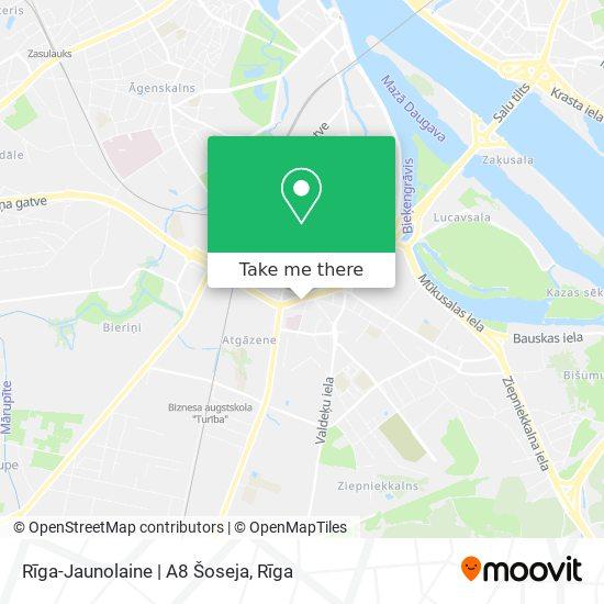 Rīga-Jaunolaine | A8 Šoseja map