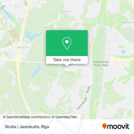 Skulte   Jaunskulte map