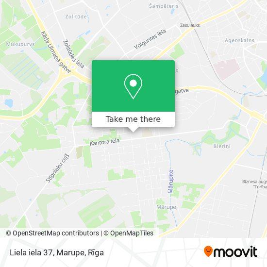 Liela iela 37, Marupe map