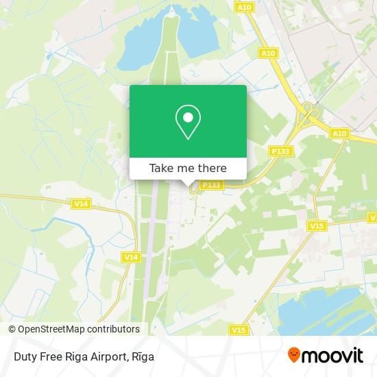 Duty Free Riga Airport map