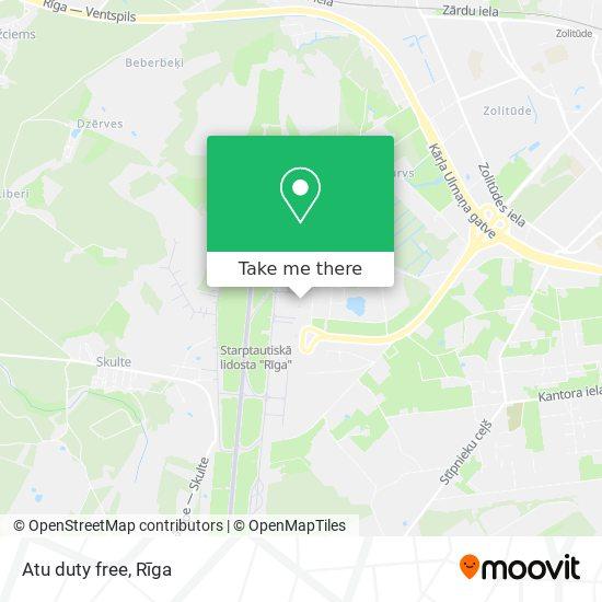Atu duty free map