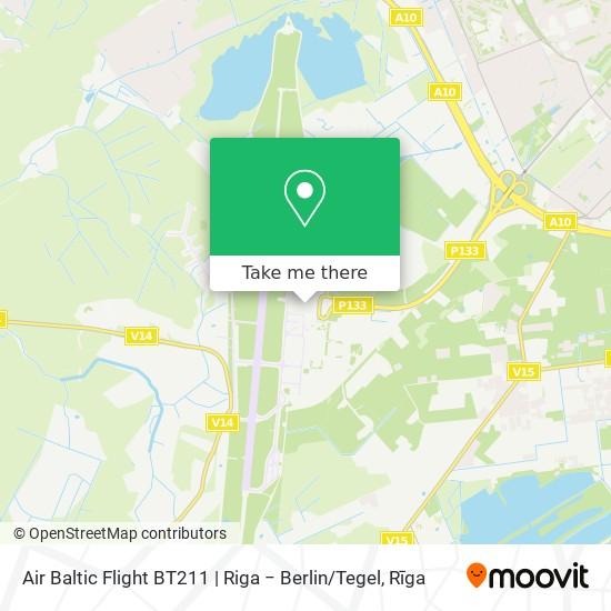 Air Baltic Flight BT211   Riga − Berlin / Tegel map