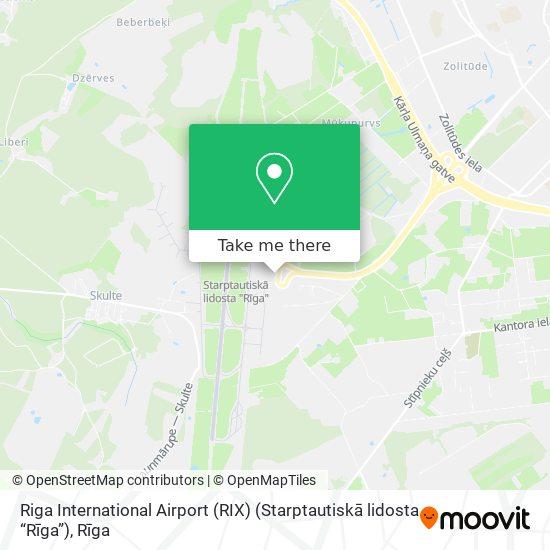 """Riga International Airport (RIX) (Starptautiskā lidosta """"Rīga"""") map"""