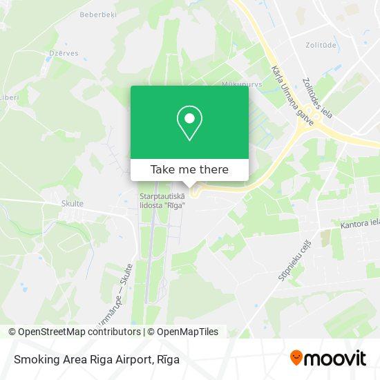 Smoking Area Riga Airport map
