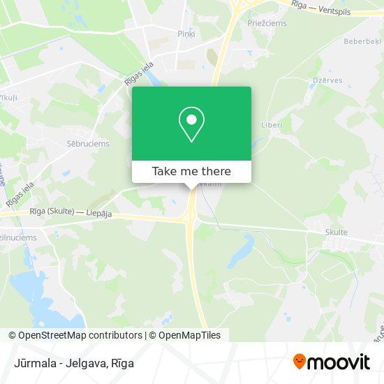 Jūrmala - Jelgava map
