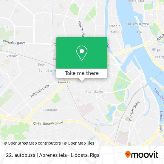 22. autobuss    Abrenes iela - Lidosta map