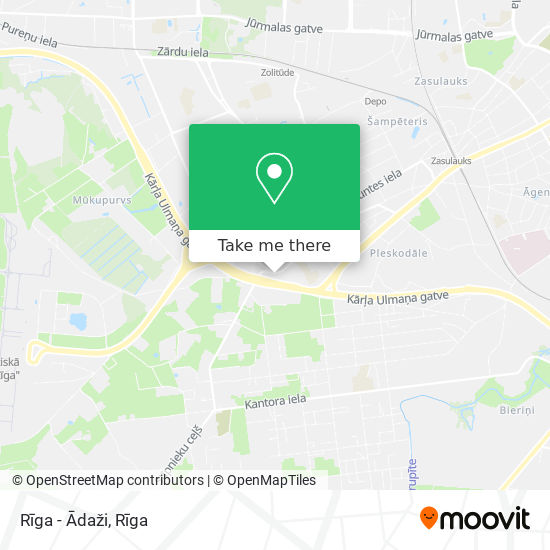 Rīga - Ādaži map