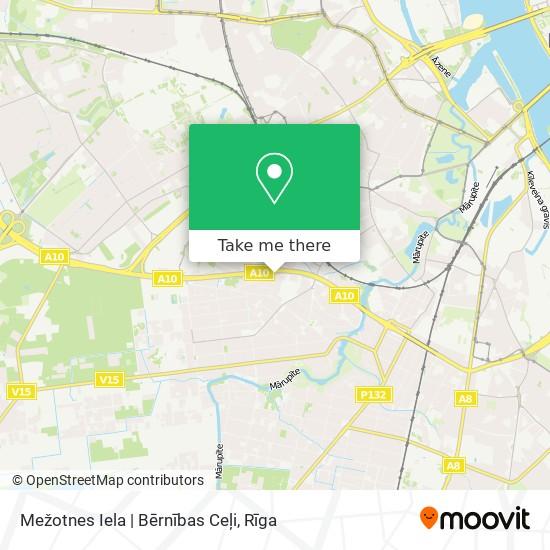 Mežotnes Iela   Bērnības Ceļi map
