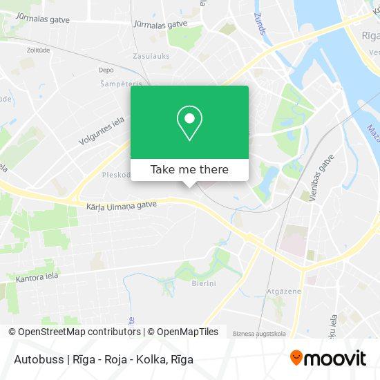Autobuss | Rīga - Roja - Kolka map