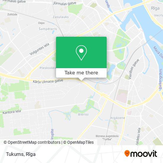 Tukums map