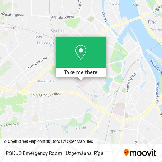 PSKUS Emergency Room | Uzņemšana map