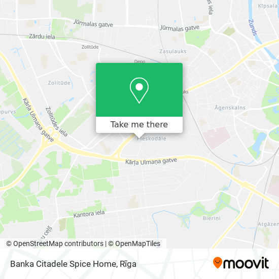 Banka Citadele Spice Home map