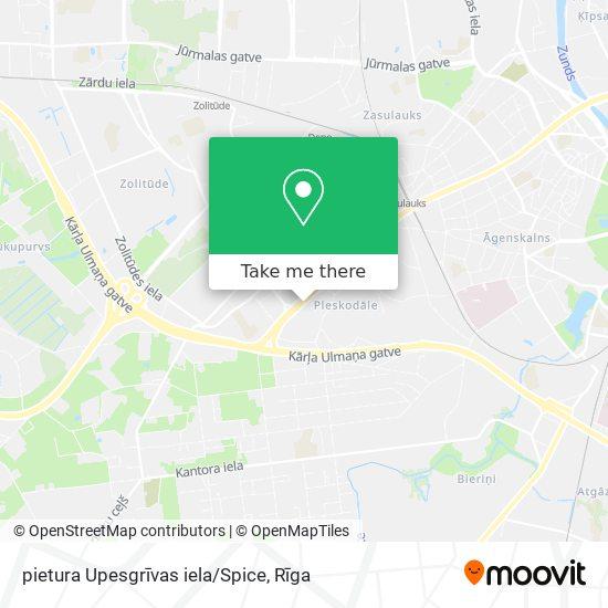 pietura Upesgrīvas iela/Spice map