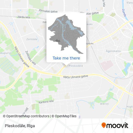 Pleskodāle map