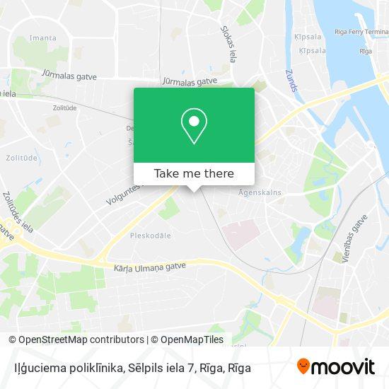 Iļģuciema poliklīnika, Sēlpils iela 7, Rīga map