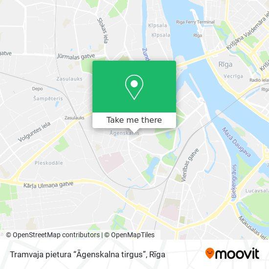 """Tramvaja pietura """"Āgenskalna tirgus"""" map"""