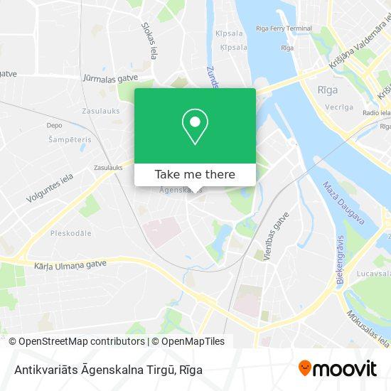 Antikvariāts Āgenskalna Tirgū map