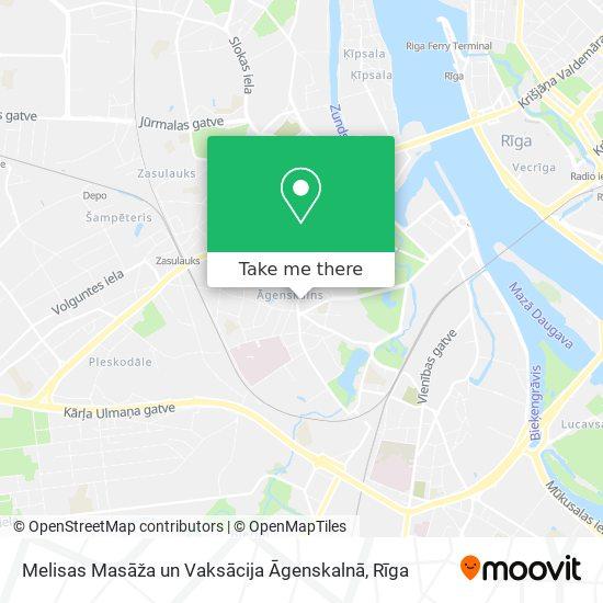 Melisas Masāža un Vaksācija Āgenskalnā map