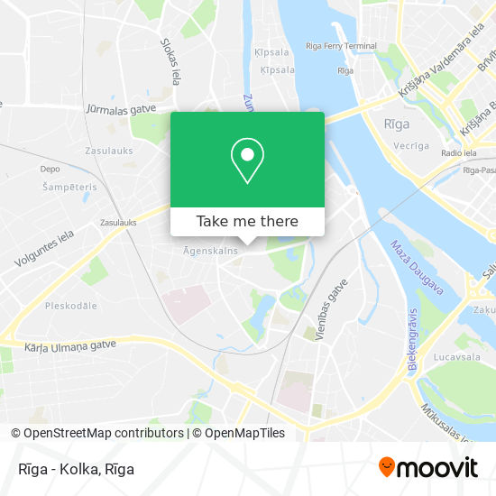 Rīga - Kolka map
