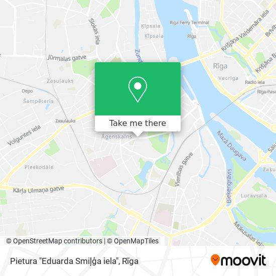 """Pietura """"Eduarda Smiļģa iela"""" map"""