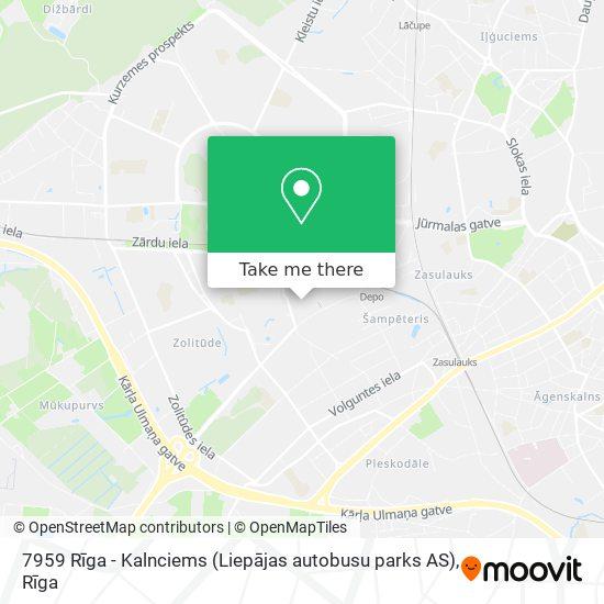 7959 Rīga - Kalnciems (Liepājas autobusu parks AS) map