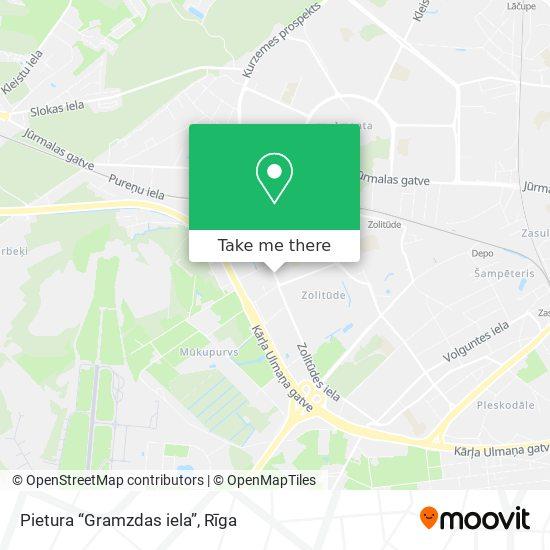 """Pietura """"Gramzdas iela"""" map"""