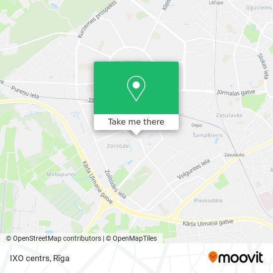 IXO centrs map