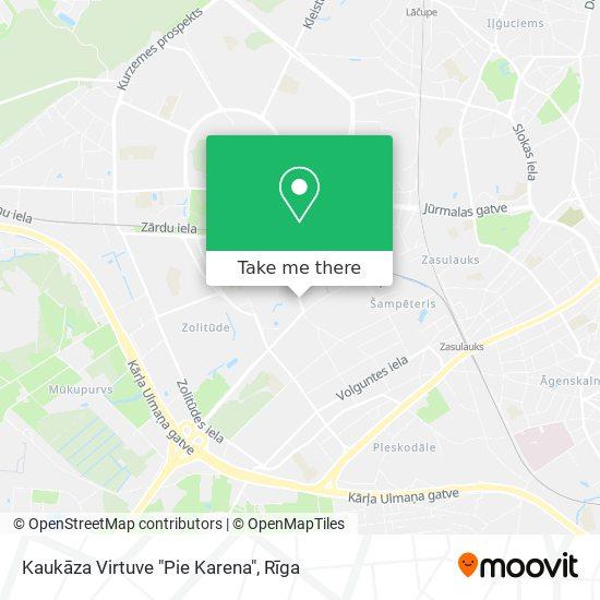 """Kaukāza Virtuve """"Pie Karena"""" map"""