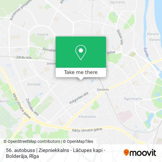 56. autobuss   Ziepniekkalns - Lāčupes kapi - Bolderāja map
