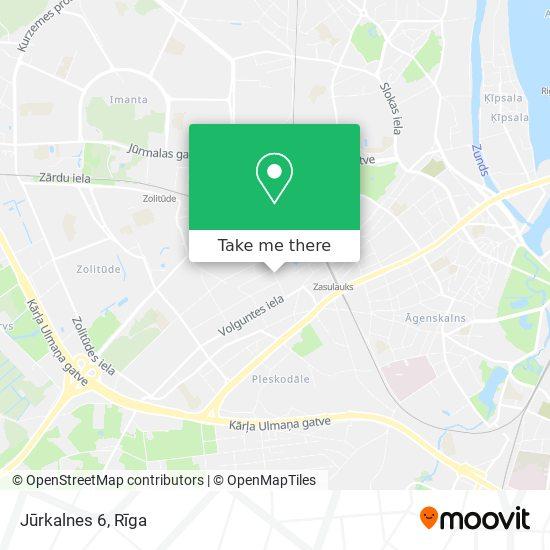 Jūrkalnes 6 map