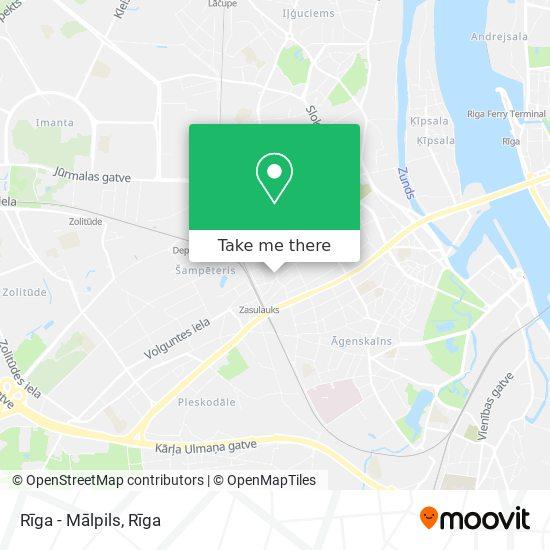 Rīga - Mālpils map