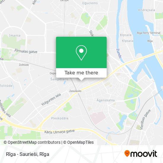 Rīga - Saurieši map