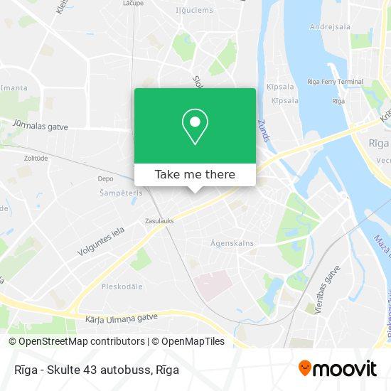 Rīga - Skulte 43 autobuss map