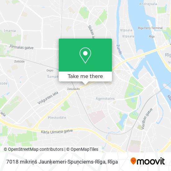 7018 mikriņš Jaunķemeri-Spuņciems-Rīga map